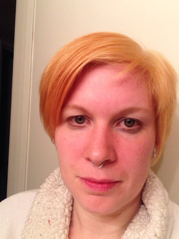 Going blonde? You can make this orange terror look better, promise.