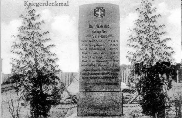 pomnik pierwszowojenny w Sławocieszu, zdj. przedwojenne