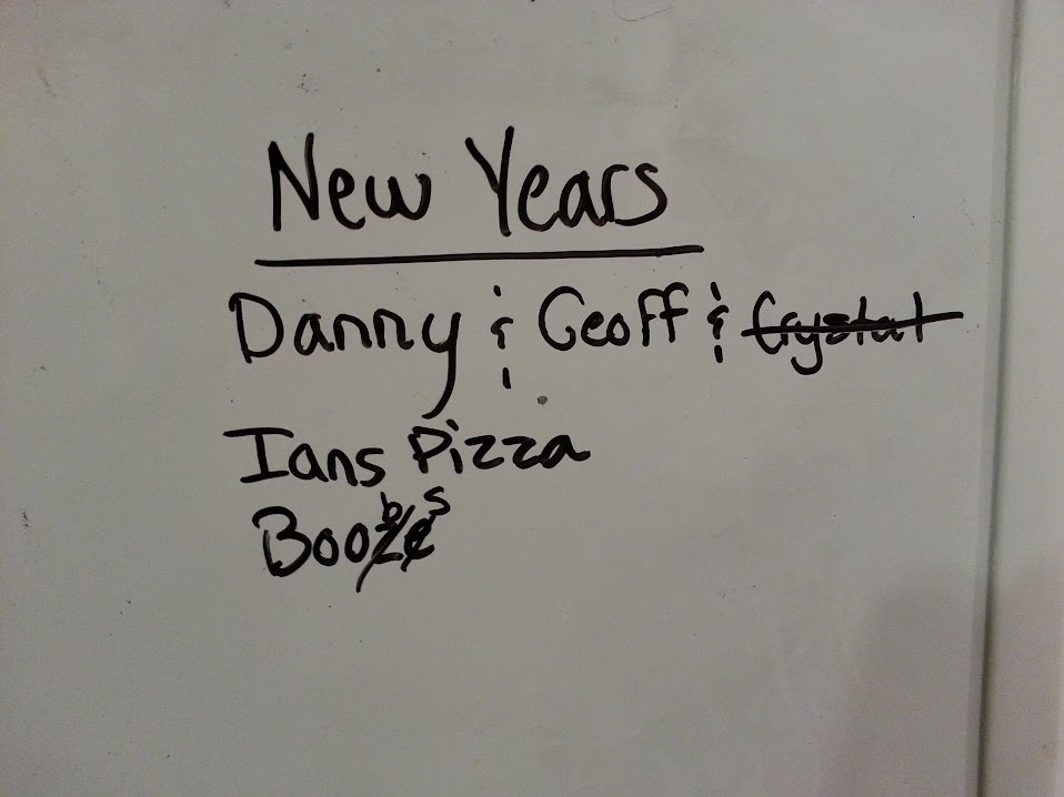 New Years Eve Plans, 2012