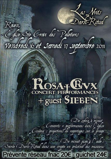 Rosa†Crvx / Sieben @ Eglise Ste-Croix des Pelletiers, Rouen 17/09/2011
