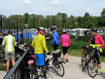 cyclists at marina