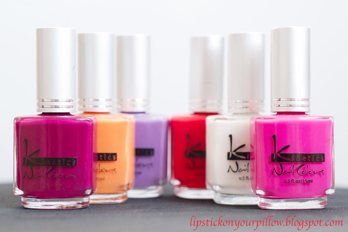 Kinetics Nail Polish Haul! - Lipstick on your pillow | Makeup ...