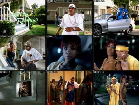 Nelly y Kelly Rowland en el videoclip de Dilemma
