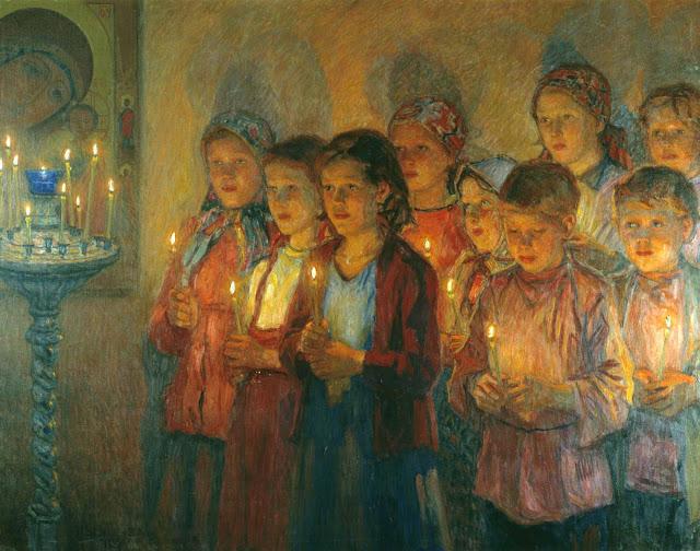 Nikolai Bogdanov Belsky: U crkvi