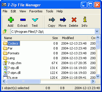 Screenshot 7-zip