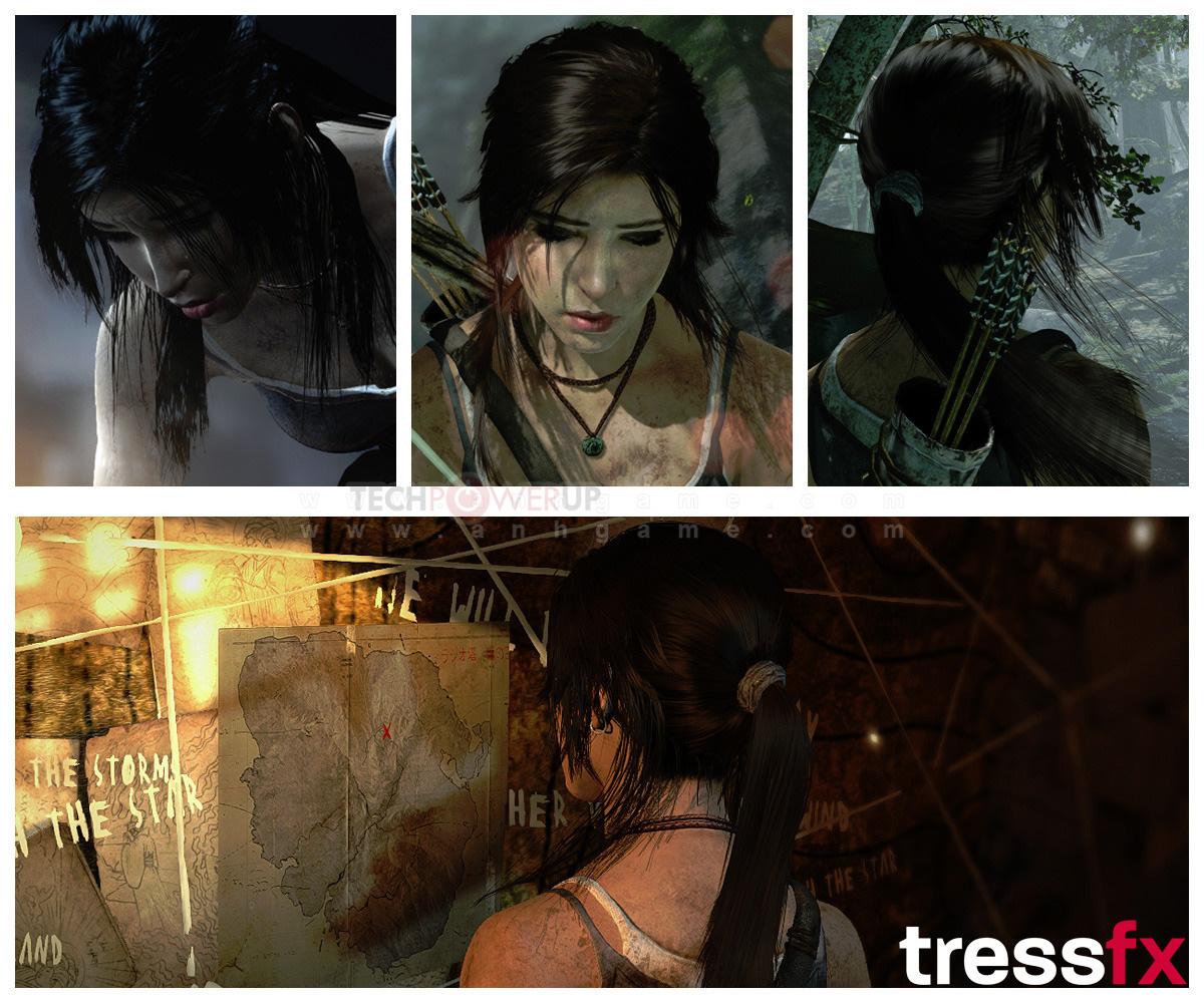 """Lara Croft đẹp """"điên đảo"""" nhờ công nghệ TressFX - Ảnh 1"""