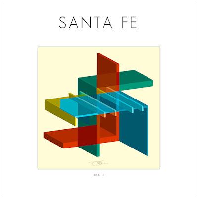 Santa Fe+adobe+house+architecture+ilusion