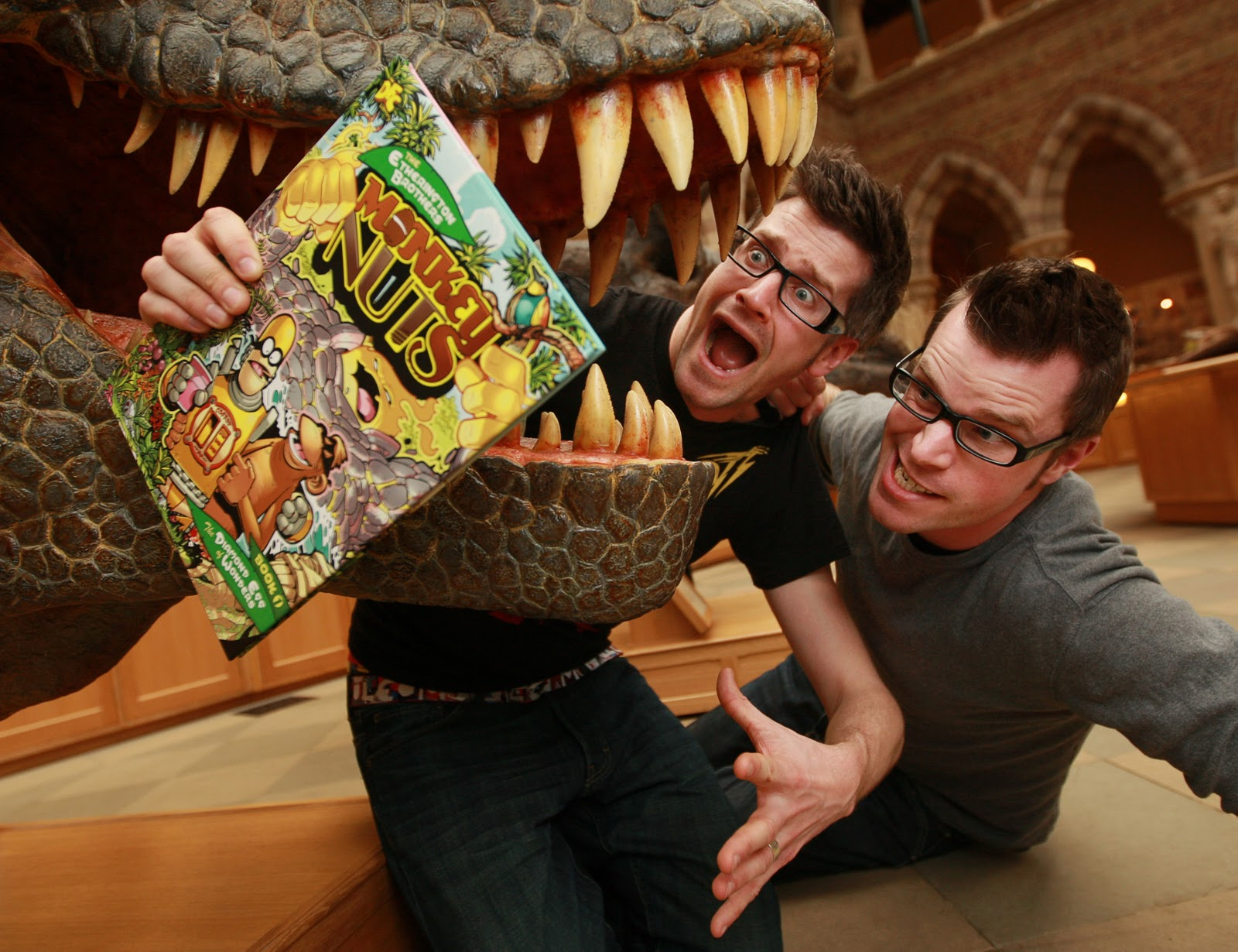 T-Rex attacks The Etherington Brothers