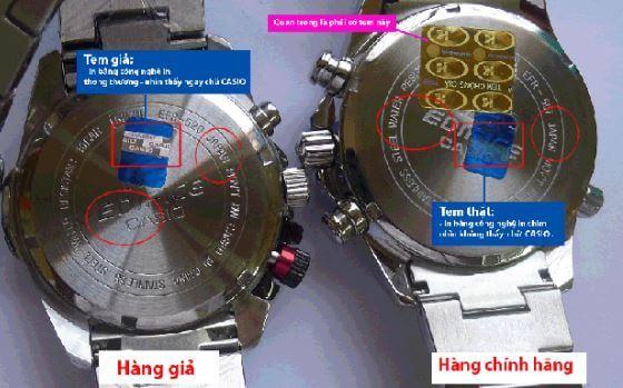 phương pháp phân biệt đồng hồ Casio chính hãng