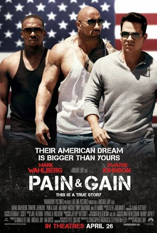 Poster Of English Movie Pain & Gain (2013) Free Download Full New Hollywood Movie Watch Online At Alldownloads4u.Com