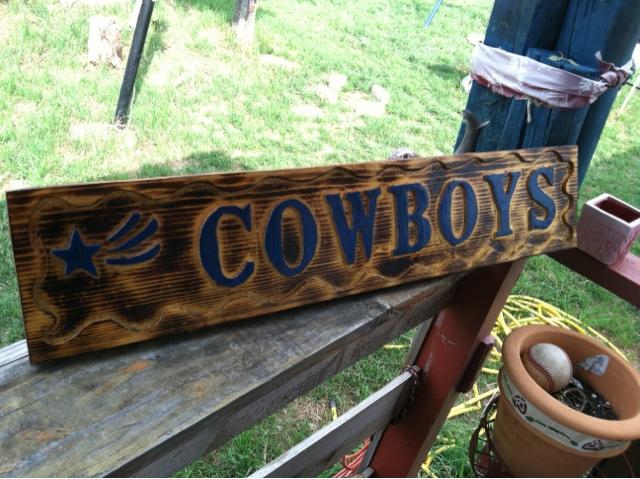 Handmade Home Decorations Dallas Cowboys Wooden Wall Sign