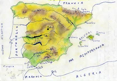 Cartina Muta Spagna Esercizi.Carta Muta Della Spagna Laceprof Materiali