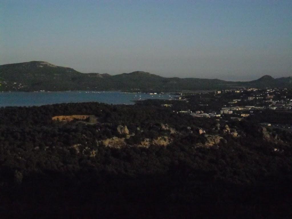 Vue panoramique sur le golfe de Porto-Vecchio : de nuit