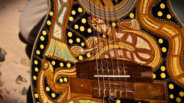 Aboriginal Guide's Guitar - Go For Fun - Australian Travel and Activity Community. Inspire, Share, Enjoy!