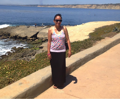 At La Jolla Cove Beach