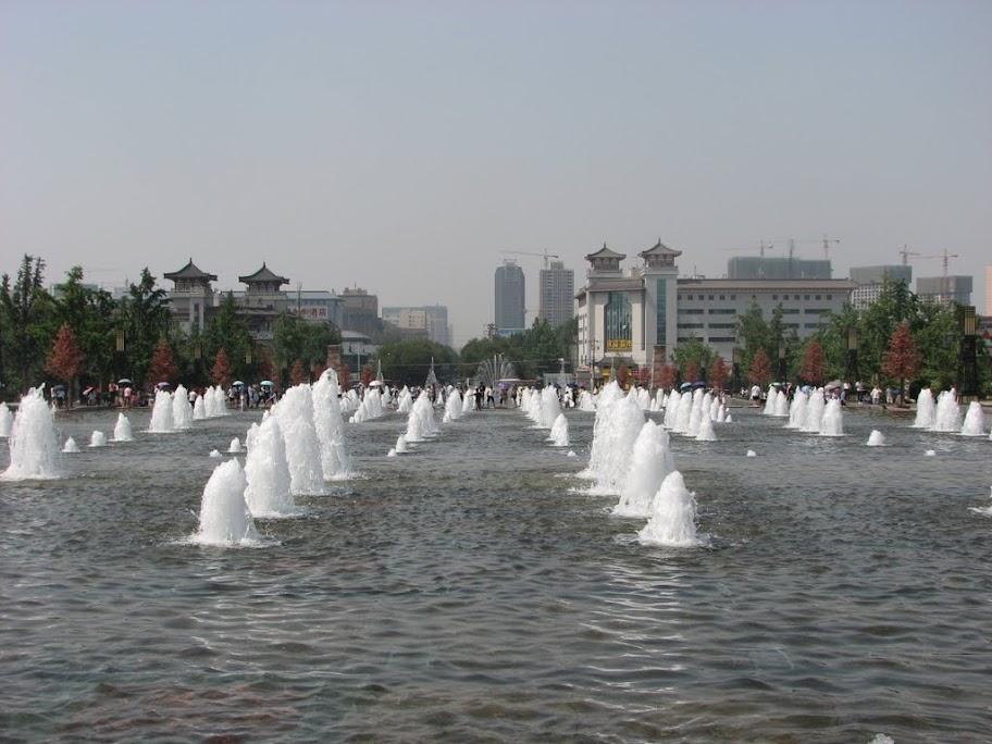 Des fontaines.