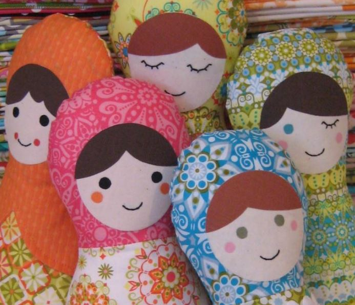 Stuffed Quilted Dolls, on Bluprint
