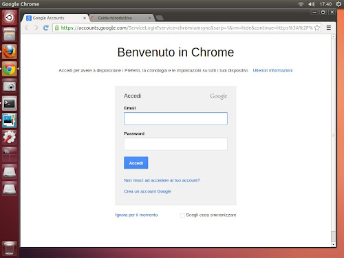 Google Chrome su Ubuntu 13.04 Raring