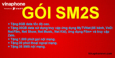 Nhận 38GB, Gọi Không giới hạn, xem Bóng đá cả ngày Smart Thể thao (SM2S) Vinaphone