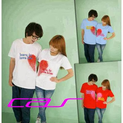 Kaos Couple Murah Born Love