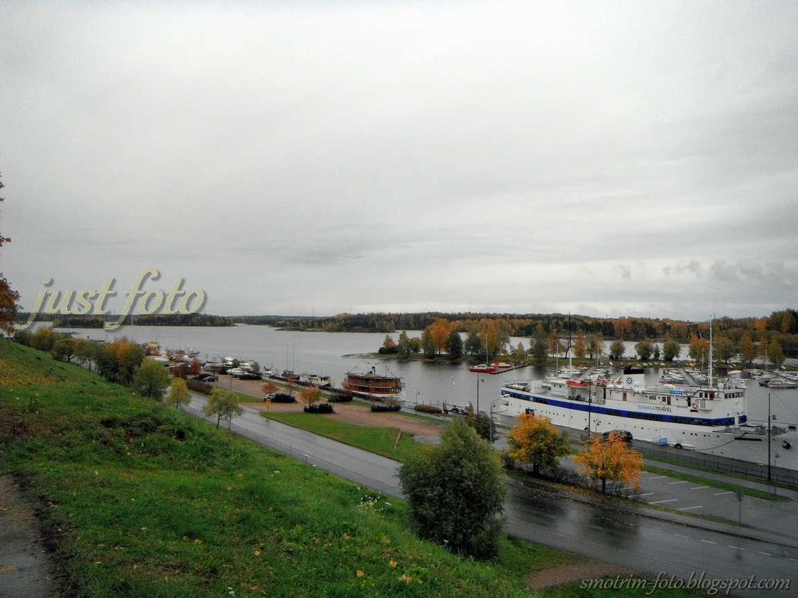 Набережная Сайменского канала и озеро Сайма фото