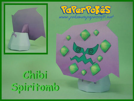 Pokemon Spiritomb Papercraft