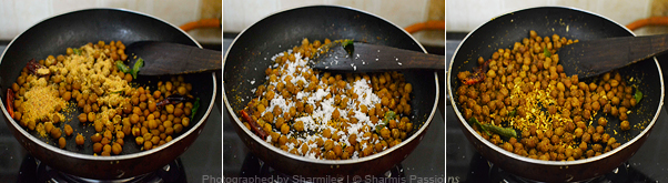 How to make black chana sundal - Step3