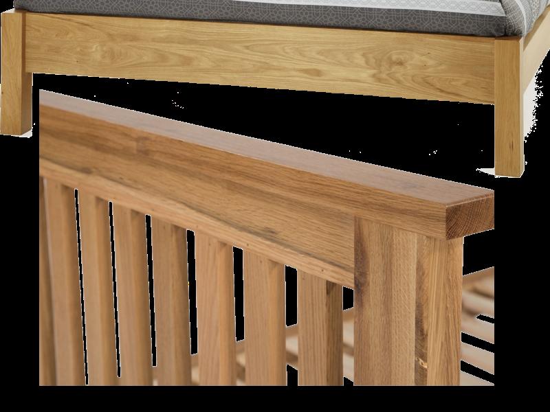 gỗ ghép sồi làm vai giường, đầu giường