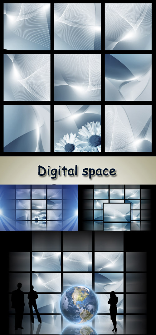 Stock Photo - Digital space set 10