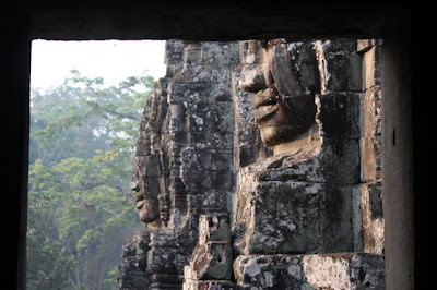 Heads at Bayon temple in Siem Reap Cambodia