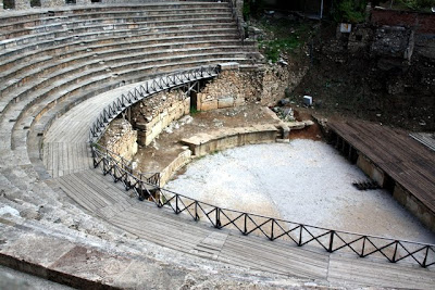 Roman amphitheater in Ohrid Macedonia