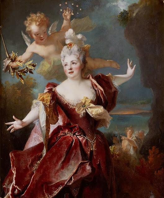 Nicolas de Largillière - Portrait de la comédienne Marie-Anne de Châteauneuf, dite Mlle Duclos (1664-1747), dans le rôle d'Ariane - Google Art Project