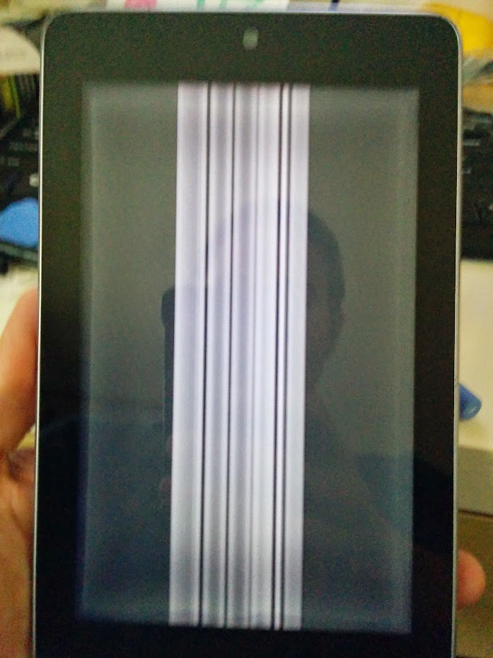 Display with vertical lines
