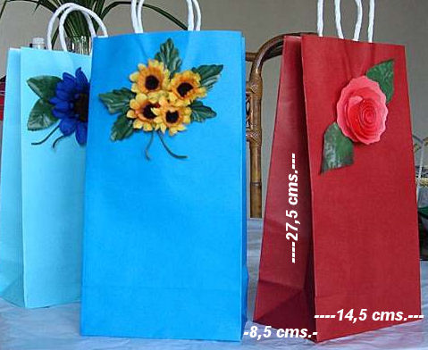 C mo decorar bolsas de papel para regalo - Como hacer bolsas de regalo ...