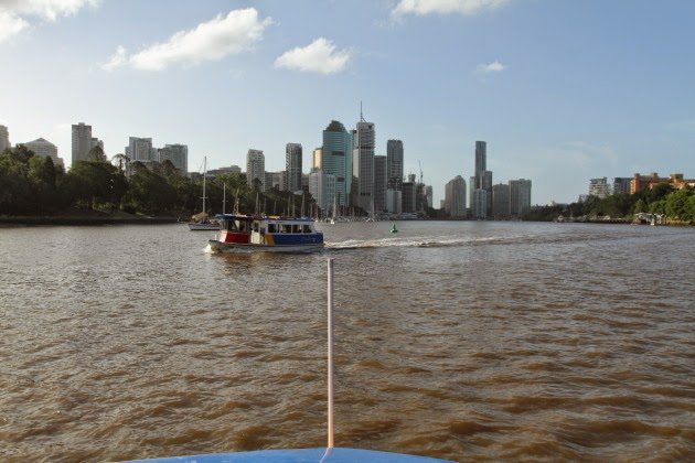Brisbane as seen from the CityCat on the River