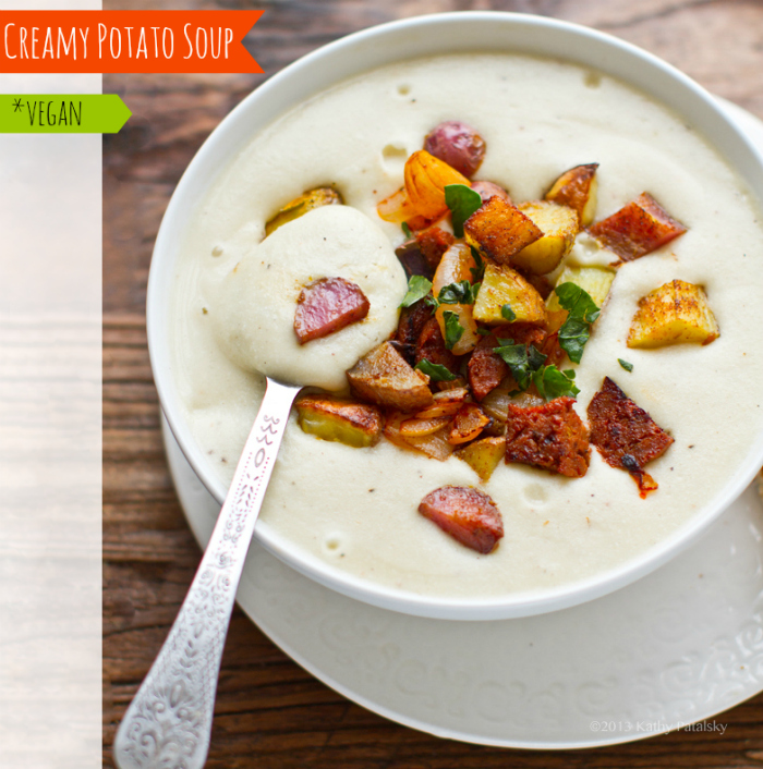 Creamy Baked Potato Soup Vegan Secret Ingredient Recipe Vegan
