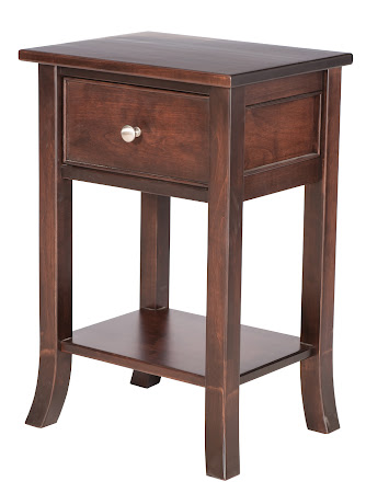 Matching Furniture Piece: Stafford Nightstand with Shelf in Onyx Maple