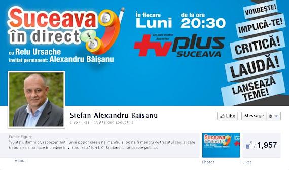 Alexandru Băişanu pagina de Facebook