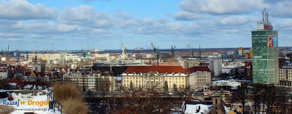 widok z Góry Gradowej na Gdańsk