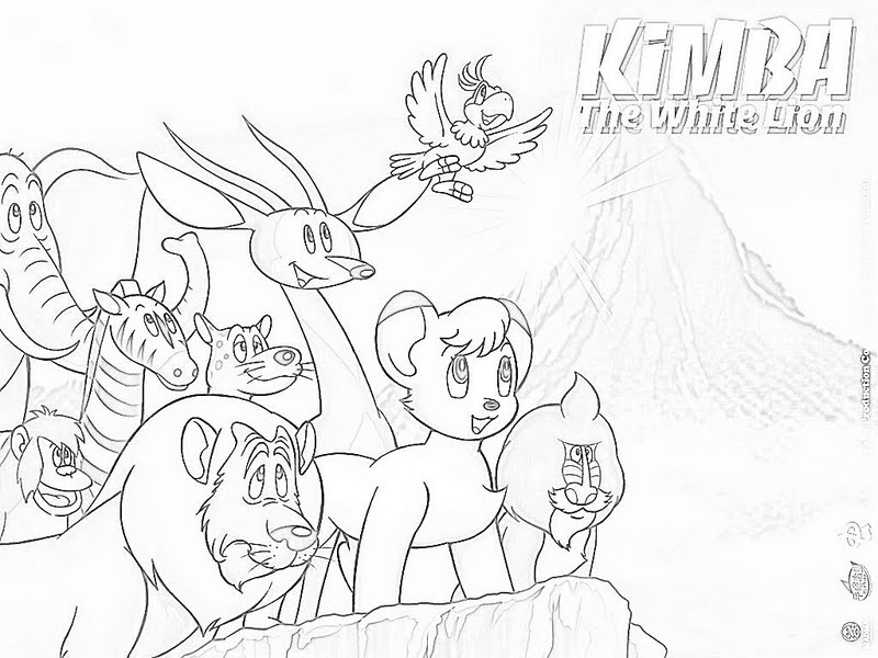 Kimba coloring pages