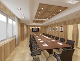 Thi công lắp đặt trần gỗ nhựa cho văn phòng làm việc công ty