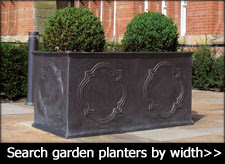 large garden troughs made from fibreglass