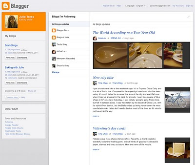 New Blogger Dashboard