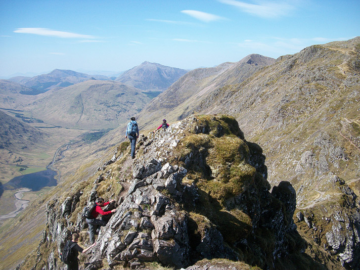 Aonach Eagach Ridge Scotland (15 Scariest Hikes in the World).