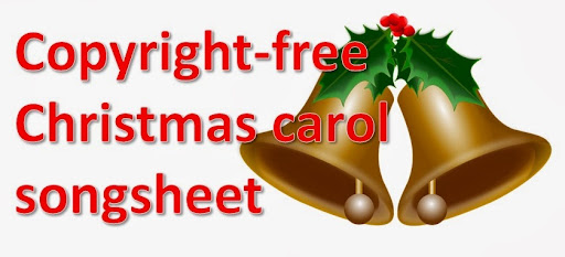 broadsheet page of words for non-copyright religious Christmas carols