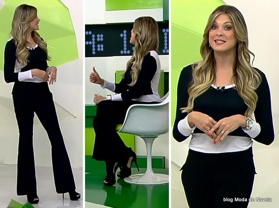 moda do programa Jogo Aberto - look da Renata Fan dia 30 de maio