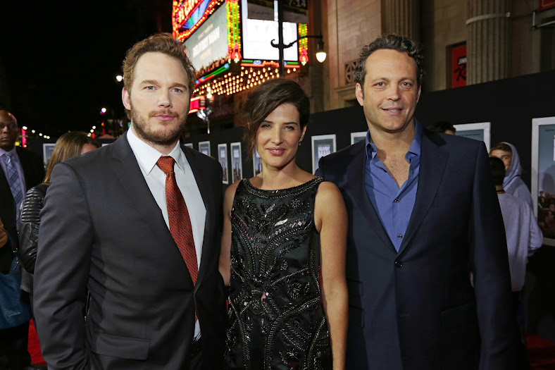 Chris Pratt, Cobie Smulders, and Vince Vaughn on the Delivery Man Red Carpet #DeliveryManEvent