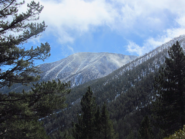 San Gorgonio with clouds whipping by