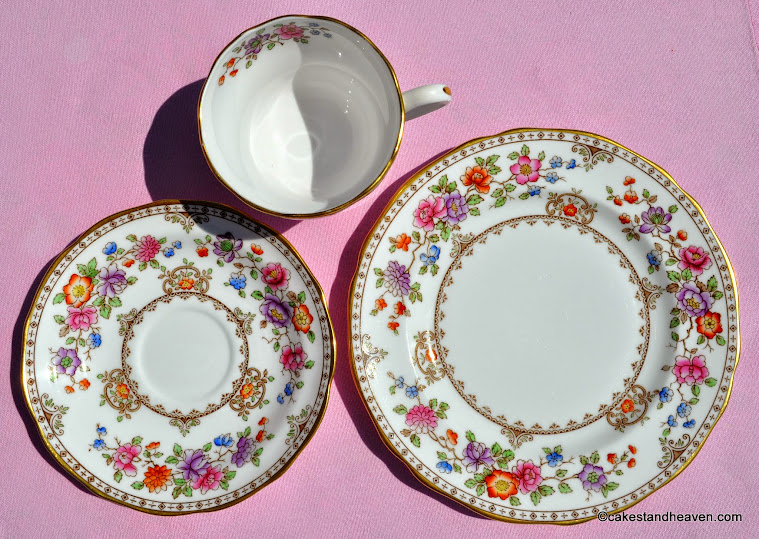 Spode teacup, saucer, tea plate, made in England