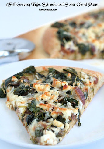 {Fall Greens} Kale, Spinach, and Swiss Chard Pizza